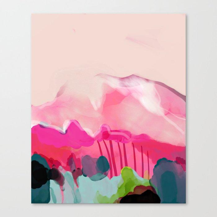 pink mountain Leinwanddruck