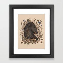 Beware, the Black Shuck Framed Art Print