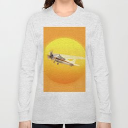 Bright Yellow Sun Long Sleeve T-shirt