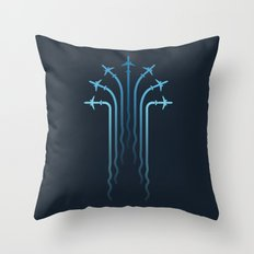 Crossing the sky Throw Pillow