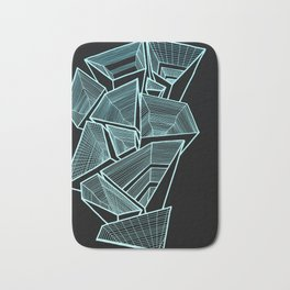 Pockets - Inverted Blue Bath Mat