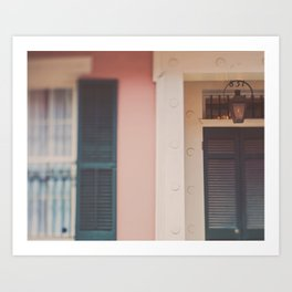 New Orleans French Quarter. The Beautiful South. Art Print