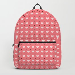 Cute polka dots and heart pattern Backpack