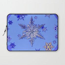 """BLUE SNOW ON SNOW"" BLUE WINTER ART Laptop Sleeve"