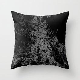 Brisbane map Australia Throw Pillow