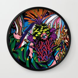 plant breaking out into space Wall Clock