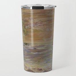 Acrylic textured Painting Travel Mug