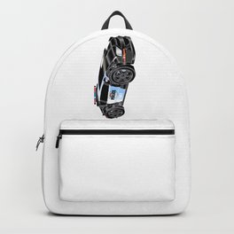 Police Car Illustration Backpack