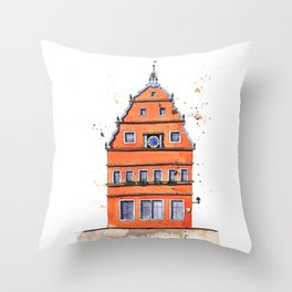 whimsical house in Germany Throw Pillow