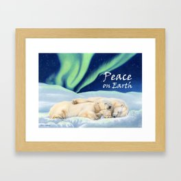 Under The Northern Lights- Peace on Earth Framed Art Print