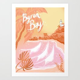 Byron Bay coral poster Art Print