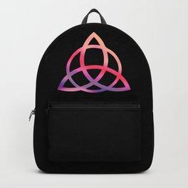 Purple Tie Dye Triquetra Backpack