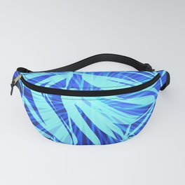Glowing blue bird in sea chaotic lines. Fanny Pack