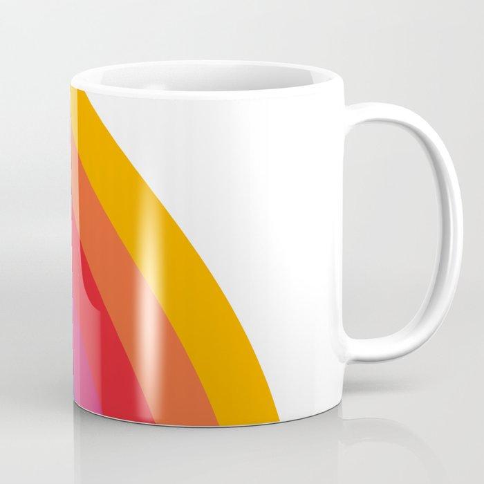 Retro Bright Rainbow - Right Side Coffee Mug