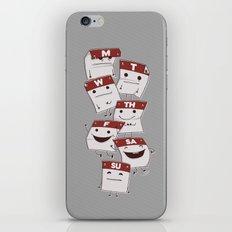 Woork Week iPhone & iPod Skin