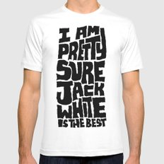 Jack White X-LARGE White Mens Fitted Tee