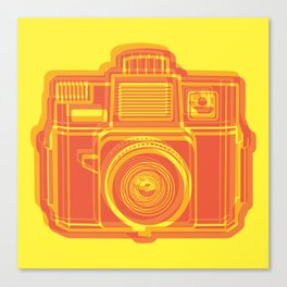 I Still Shoot Film Holga Logo - Yellow & Red Canvas Print