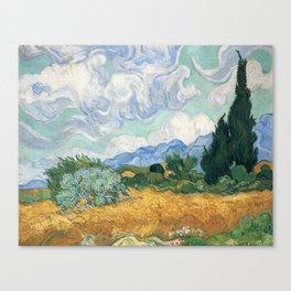 Van Gogh A Wheatfield With Cypresses Sept 1889 Canvas Print