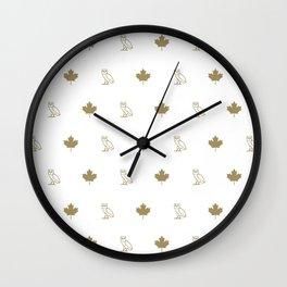 Maple Leafs - White Wall Clock