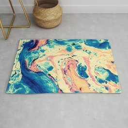 Colorful marbled paper II Rug