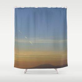 Sunset, Amalphi coast, Italy Shower Curtain