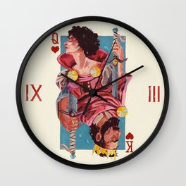 Queen and King of hearts Wall Clock