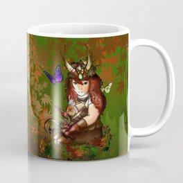 Druid dwarf in the forest in autumn Coffee Mug