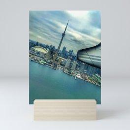 Toronto Skyline from Plane Mini Art Print