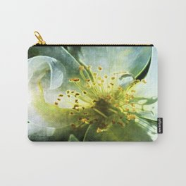 Yellow Rose Center with smokey overlay by CheyAnne Sexton Carry-All Pouch