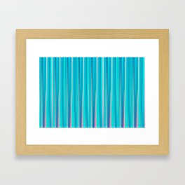 Simple Pastel Teal Vertical Lines Framed Art Print