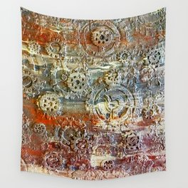 Mechanical Gear Abstract Wall Tapestry
