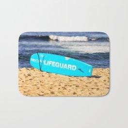 Lifeguard. Bronte Beach. Sydney Australai Bath Mat