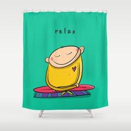 Relax   #happyman Shower Curtain