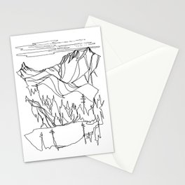 Hidden Alpine Lake Stationery Cards