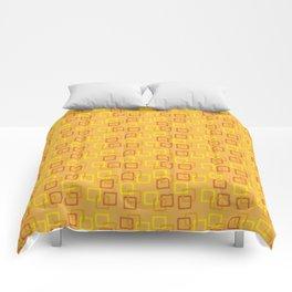 Interlocking Squares - Orange Comforters