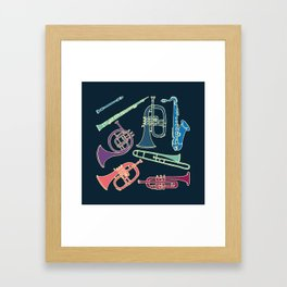 Wind instruments Framed Art Print