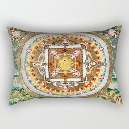 Buddhist Mandala 48 White Tara Rectangular Pillow