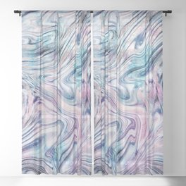 Bohemian Unicorn Marble Dream #1 #pastel #decor #art #society6 Sheer Curtain