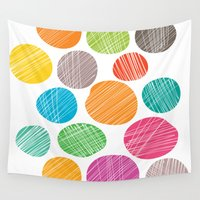 circles Wall Tapestries featuring Circles by Colorshop