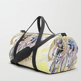 Colorful Bike Race Art Duffle Bag