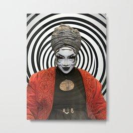 GOTHESS PSYCHO Metal Print