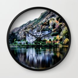 A Castle in Reflection Wall Clock