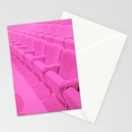 Pink Theater Seats in Palm Springs Stationery Cards
