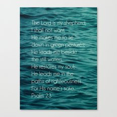 Psalm 23:1-3 Canvas Print