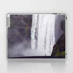 Man Vs. Nature - Skógafoss, Iceland Laptop & iPad Skin