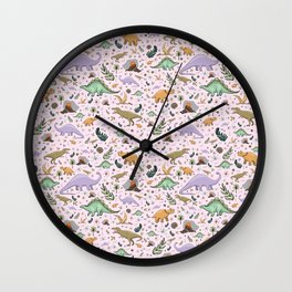 Pretty Dinosaurs Wall Clock