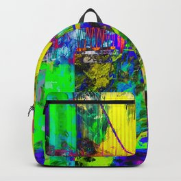 Golden Gate bridge, San Francisco, USA with colorful painting abstract background Backpack