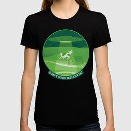 Don't Stop Believin'- Alien Abduction T-shirt