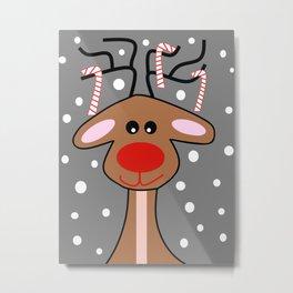Happy Reindeer Metal Print