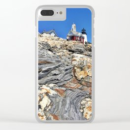Pemaquid Point Lighthouse in Bristol, Maine (1) Clear iPhone Case